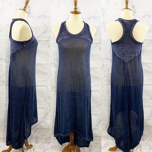 Athleta  Blue Sunstone High-Low Maxi Dress M